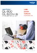 【ラベルデザインテンプレート集】QL-800/QL-820NWB 表紙画像