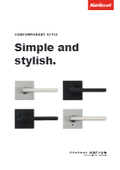 アメリカ輸入 ドアハンドル『クイックセット コンテンポラリースタイル』シンプル&スタイリッシュなミニマルデザイン 表紙画像