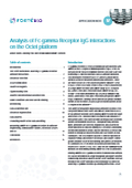 Application Note 17「Analysis of Fc-gamma Receptor-IgG… 表紙画像