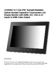 液晶ディスプレイ XENARC 1219GNH 製品カタログ 表紙画像