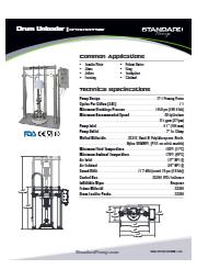 サニタリー ドラムアンローダー(ピストンポンプ式) SPTSU12PPNIW 表紙画像
