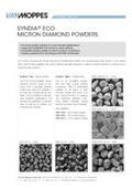 単結晶エコノミーダイヤモンドパウダー SYNDIA RBM Van Moppes製品 マイクロディアマントジャパン  表紙画像