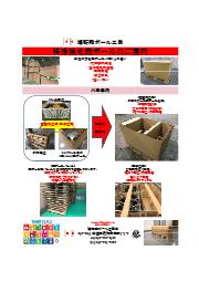 重量物用段ボール(木枠から段ボールへSDGs対応)段パレット付.2 表紙画像