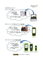 【活用事例】携帯型ネットワークソリューション NETSCOUT 表紙画像