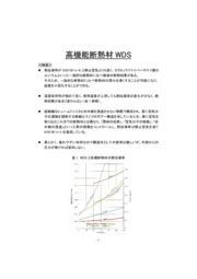 高機能断熱材WDS 表紙画像