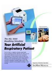 ASL5000 呼吸シミュレーター(イングマメディカル社)製品カタログ 表紙画像