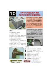 スウェーデン鋼・耐摩耗鋼板『HARDOX(ハルドックス)』様々な業界の耐摩耗製品事例 表紙画像