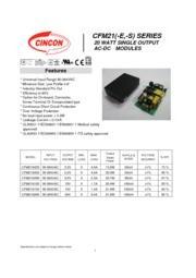 CFM21M  医療用 AC/DCスイッチング電源 入力90V-264V 出力3.3V-24V 20W 組み込み型電源 表紙画像