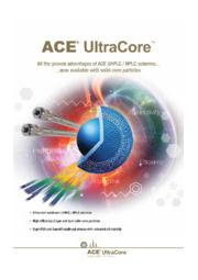 ACE UltraCore UHPLC/HPLC用カラム 表紙画像