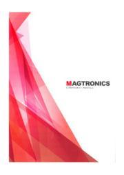株式会社マグトロニクス 会社案内 表紙画像