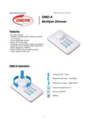 CINCON DMD-A 調光器 LED照明 DALI向け 1-6 グループ 表紙画像