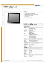 AAEON 15インチ産業用タッチパネルPC【OMNI-3155-SKU】 表紙画像