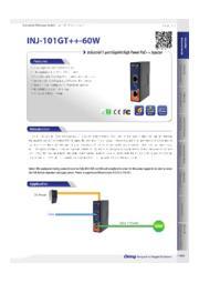 ORing 産業用PoE++インジェクタ【INJ-101GT++-60W】 表紙画像