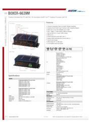 AAEON 産業用ファンレスPC PoE機能付【BOXER-6639M】 表紙画像