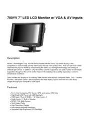 XENARC 小型液晶ディスプレイモニター 総合カタログ 表紙画像