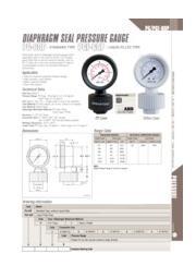 ポリプロピレン・テフロン製『隔膜コネクタ一体型圧力計 PG-60P』※英語版 表紙画像
