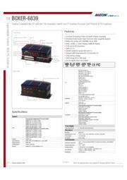 AAEON 産業用ファンレスPC 拡張スロット付【BOXER-6839】 表紙画像