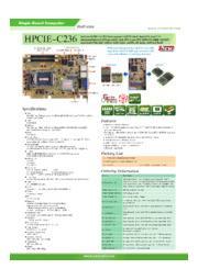 IEI産業用 PICMG1.3 SBC HPCIE-C236 製品カタログ 表紙画像