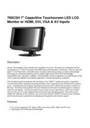 XENARC 小型液晶ディスプレイモニター  新製品カタログ 表紙画像