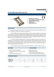 Measurement Specialties社製 シートベルトロードセルEL20-S458 小型軽量チタン製シートベルト張力計 表紙画像