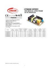 CFM60M  医療用 AC/DCスイッチング電源 入力90V-264V 出力5V-48V 60W 組み込み型電源 表紙画像