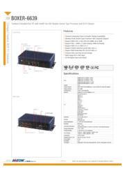 AAEON Q170用CPU搭載可能産業用小型PC【BOXER-6639】 表紙画像
