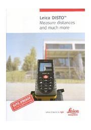 Leica DISTO ライカレーザー距離計シリーズカタログ 表紙画像