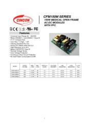 CFM150M  医療用 AC/DCスイッチング電源 入力90V-264V 出力12V-48V 150W 組み込み型電源 表紙画像