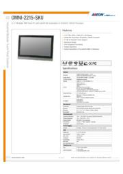 AAEON 22インチ産業用タッチパネルPC【OMNI-2215-SKU】 表紙画像