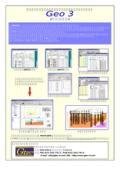 電子納品データ作成支援・地質調査資料作成支援ソフト  Geo3
