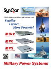 SynQor 防衛・航空機産業向け小型・軽量「パワーコンディショナ」「DC-ACインバータ」「三相入力AC-DCコンバータ」 表紙画像