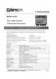 SparkLAN 802.11a/b/g/nモジュール WPEA-121N-AWS 表紙画像