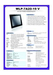 19型Core-i5 CPU搭載の高性能ファンレス・タッチパネルPC『WLP-7A20-19』』 表紙画像