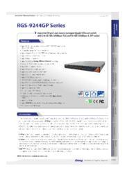 【産業ネットワークアプリケーション向け / ラックマウントギガビット管理スイッチハブ】RGS-9244GPシリーズ 表紙画像