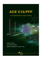 ACE C18-PFP HPLC用カラム 表紙画像
