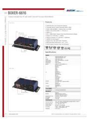 AAEON 産業用ファンレス組込みPC COM×6【BOXER-6616】 表紙画像