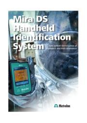 危険物の同定検知用携帯型ラマン分光計 Mira DS  表紙画像