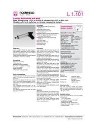 リニア駆動機器 電動リニア・アクチュエーター RA 600 表紙画像