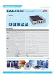 IEI 産業用ファンレス小型組込みPC【TANK-610-BW】 表紙画像