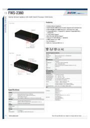 AAEON 卓上型ネットワークアプライアンス【FWS-2360】 表紙画像
