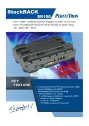 拡張温度対応ファンレス組込みPC PERFECTRON SR100 製品カタログ 表紙画像