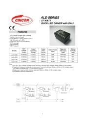 CINCON ALD シリーズ LED照明 DC/DC電源 57W DALI  定電流 表紙画像