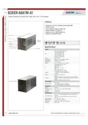AAEON 拡張スロット付産業用小型PC【BOXER-6841M】 表紙画像