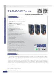 【産業用 管理型スイッチハブ】IES-3080/3062シリーズ 表紙画像