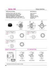 ロータリースイッチ 840シリーズ 標準ロータリースイッチ 表紙画像