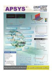 半導体デバイス 汎用2D/3D解析・設計ソフトウェア APSYS 表紙画像
