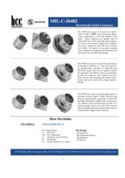 Hermetically Sealed Connectors(MIL-C-26482) 表紙画像