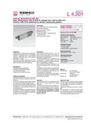 リニア駆動機器 電動リニア・アクチュエーター RA 60 表紙画像