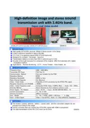 High-definition image and stereo sound transmission a raido unit 表紙画像