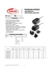 TR30RAM SERIES 医療用(IEC60601)AC/DCアダプタ 入力90V-264V 出力5V-24V 30W 表紙画像